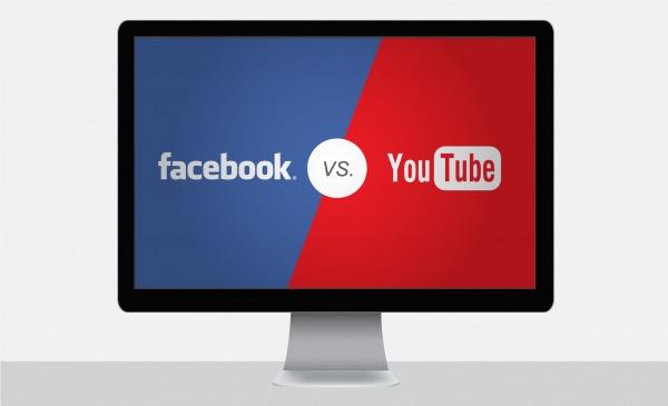 video op YouTube of Facebook